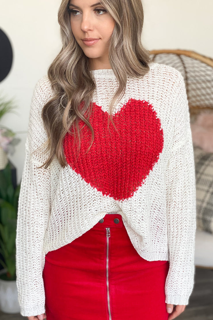 Love you Lots Sweater: Ivory - ShopSpoiled