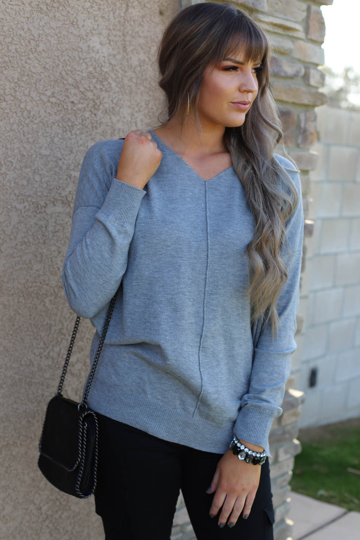 Home Sweet Home Sweater: Grey - ShopSpoiled