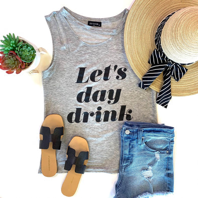 Lets Day Drink Graphic Tank - ShopSpoiled