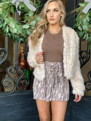 Cher Jacket: Cream - ShopSpoiled
