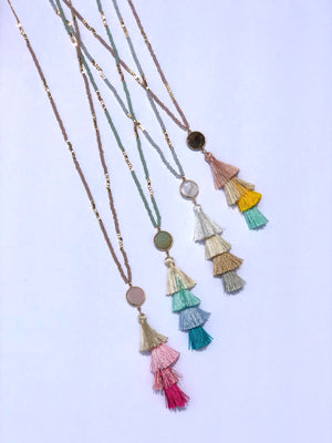 No Hassles Tassel Necklace: Spring multi - ShopSpoiled