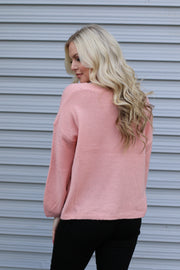 Dazed and Confused Sweater: Peach - ShopSpoiled