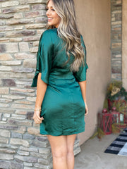 Deck The Halls Dress: Green - ShopSpoiled