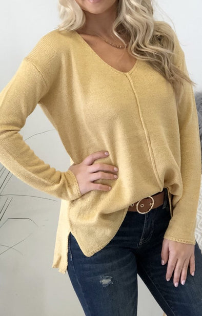Noelle Sweater: Yellow - ShopSpoiled