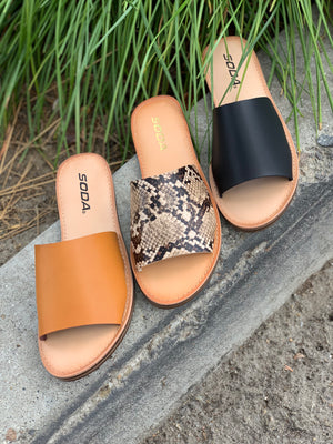 Santana Slides: Tan Snake - ShopSpoiled