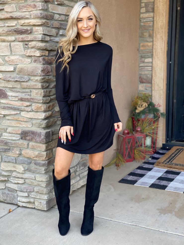 Heart to Heart Tunic: Black - ShopSpoiled