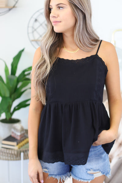Without Us Top: Black - ShopSpoiled
