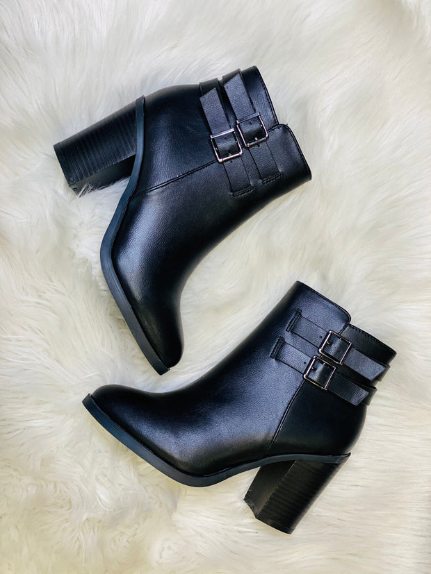 Hit The Trail Booties: Black - ShopSpoiled