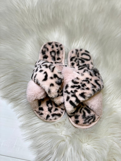 Cheetah Slippers: Pink - ShopSpoiled