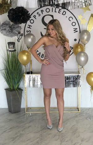 Get With It Dress: Mauve - ShopSpoiled