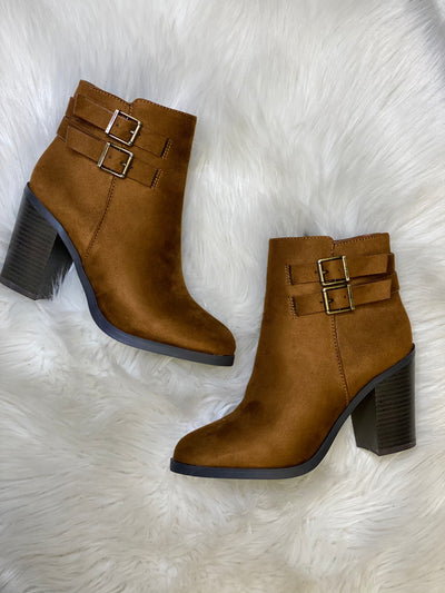 Hit The Trail Booties: Brown - ShopSpoiled