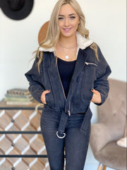 Saved By The Bell Jacket: Black Denim - ShopSpoiled