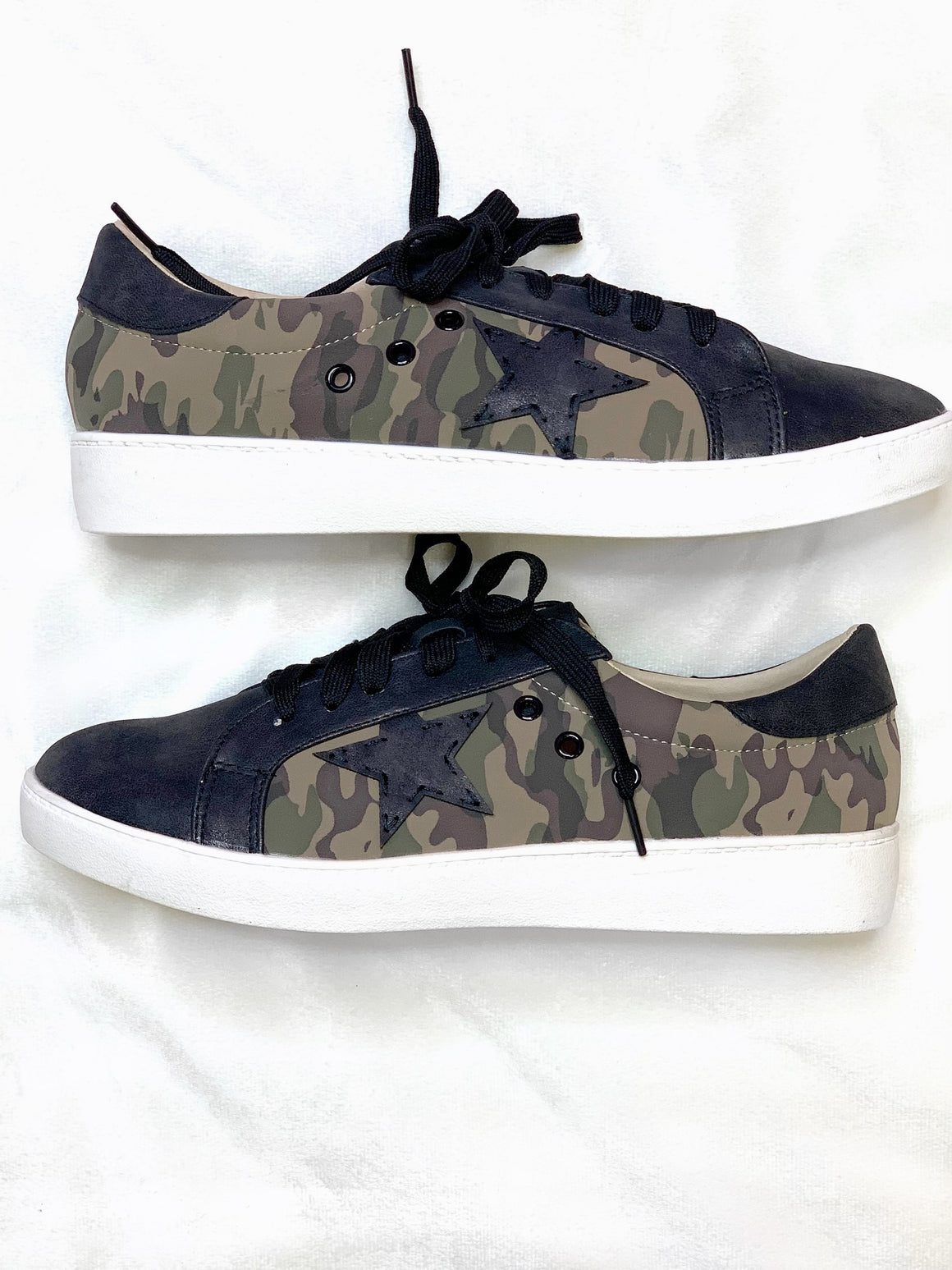 Camo Marcie Sneaker - ShopSpoiled
