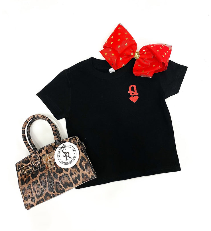 Kids Queen Of Hearts Tee: Black/Red  Mommy & Me - ShopSpoiled