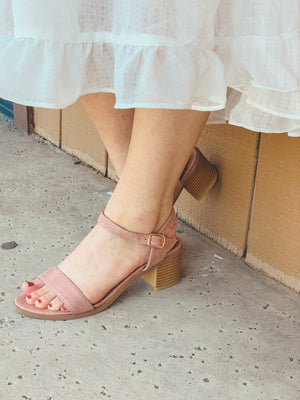 Jeanie Heeled Sandals: Mauve - ShopSpoiled