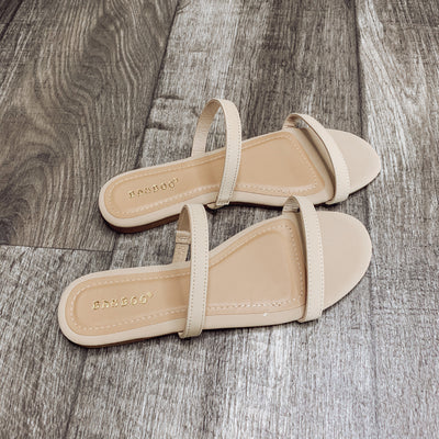 Julia Sandals: Nude - ShopSpoiled