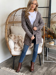 All Cuddled Up Cardigan: Brown - ShopSpoiled