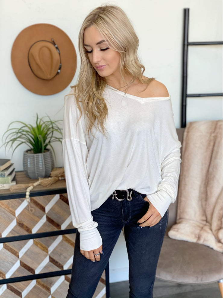 Daria Top: Ivory - ShopSpoiled