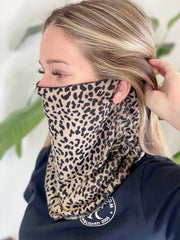 Cheetah Scarf Face Mask - Shop Spoiled Boutique