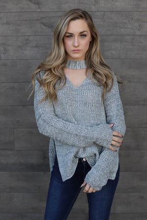 Crystal Sweater - Grey - ShopSpoiled