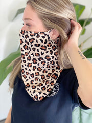 Cheetah Scarf Face Mask - ShopSpoiled