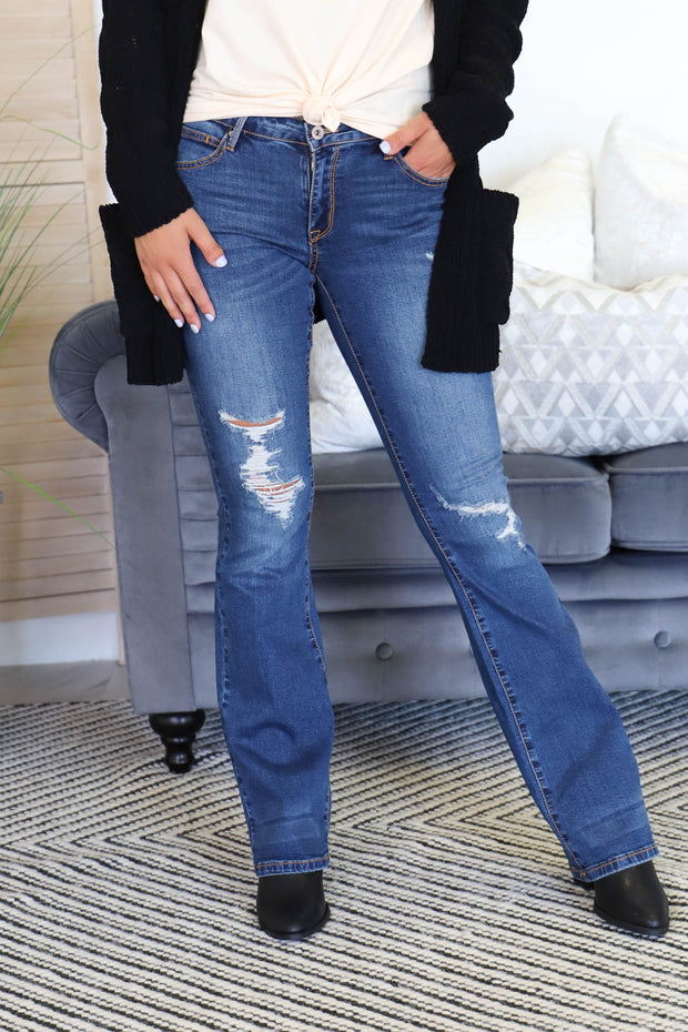 Kinsley Boot Cut Jeans - ShopSpoiled