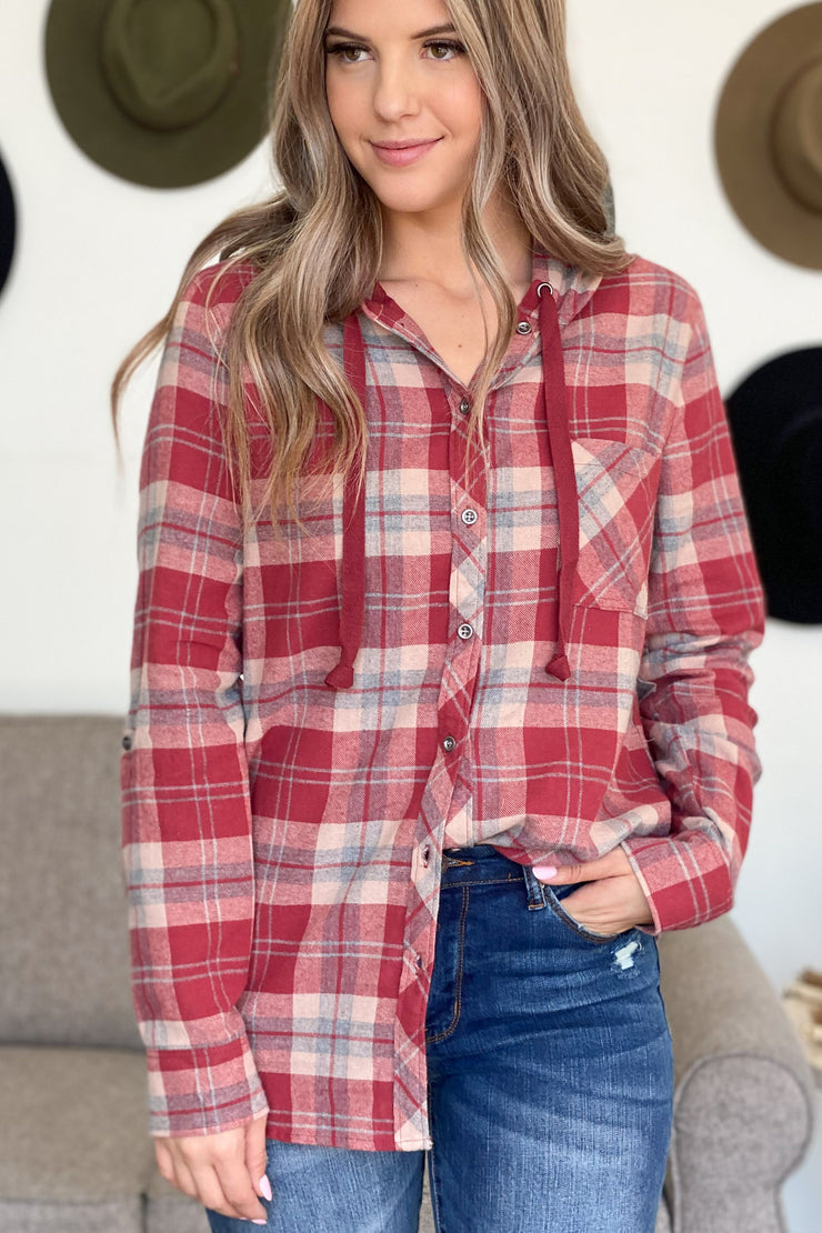 Autumn Hugs Flannel Top - ShopSpoiled