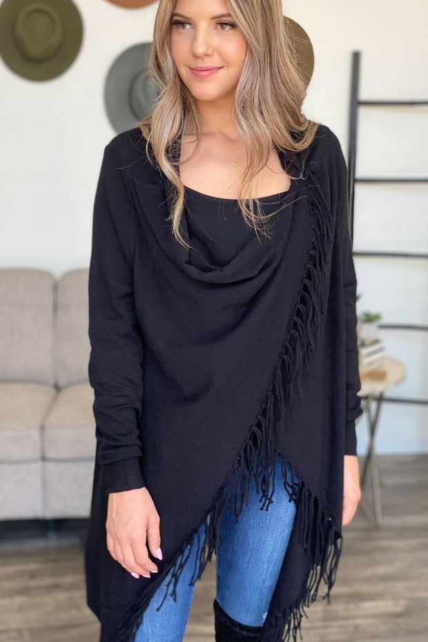 After All Cardigan: Black - ShopSpoiled