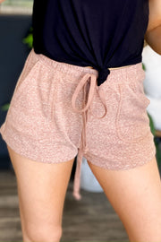 Comfy Cutie Lounge Shorts: Tan - ShopSpoiled