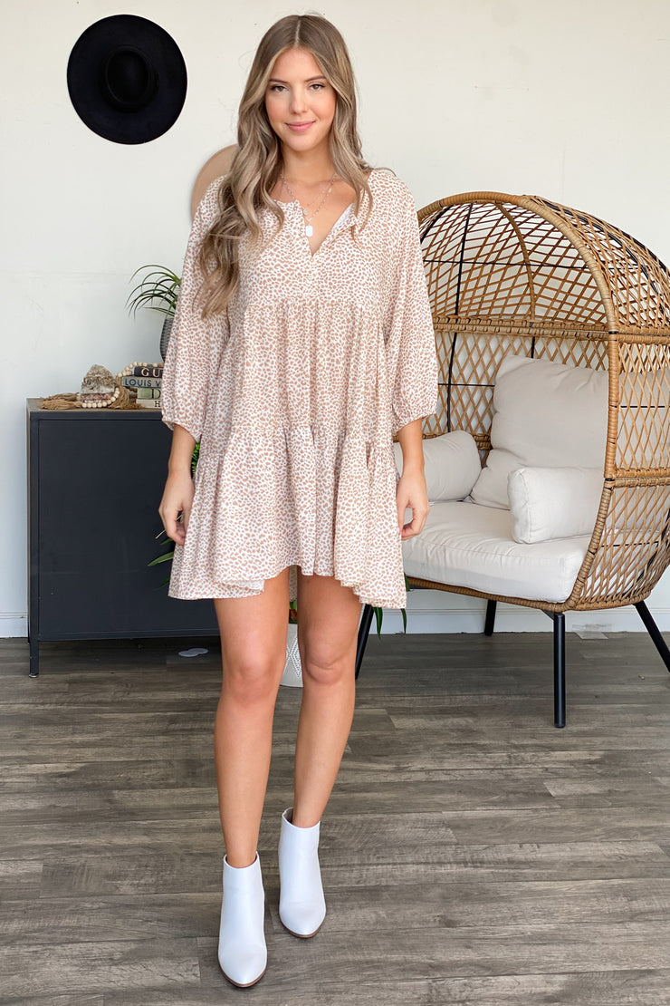 Think It Through Dress: Tan - ShopSpoiled