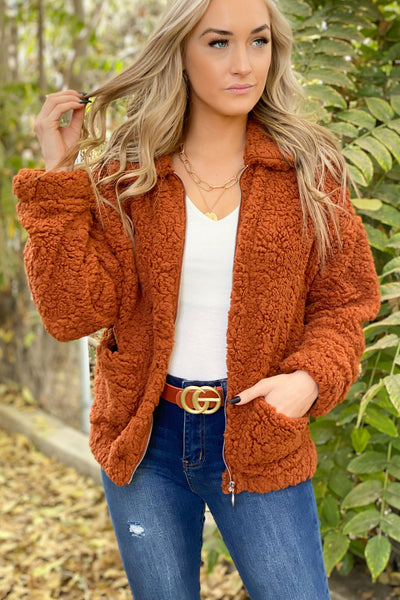 Lodge Party Sherpa Jacket - ShopSpoiled