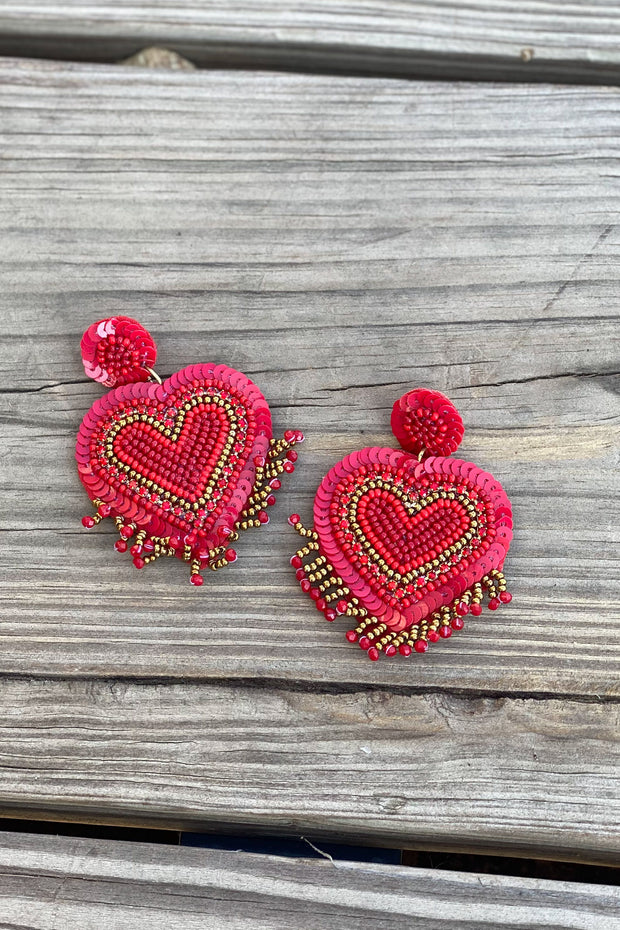 One Heart Earrings - Shop Spoiled Boutique