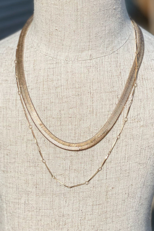 Aly Gold Layered Necklace - Shop Spoiled Boutique