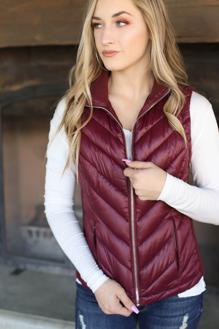 Kennedy Vest: Wine - ShopSpoiled