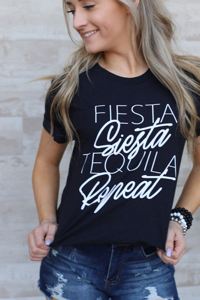 Fiesta, Siesta, Repeat Tee - ShopSpoiled