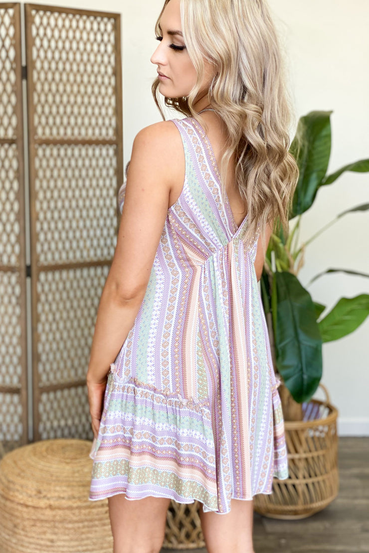 Flawless Touch Dress: Lavender - ShopSpoiled