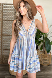 Flawless Touch Dress: Blue - ShopSpoiled