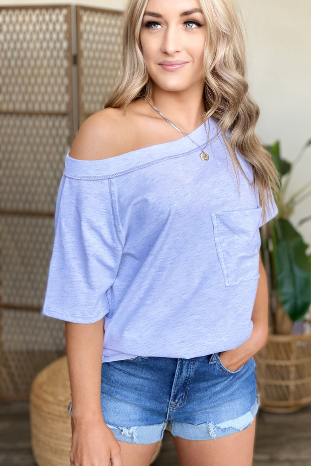 Settle Down Top: Heather Grey - ShopSpoiled