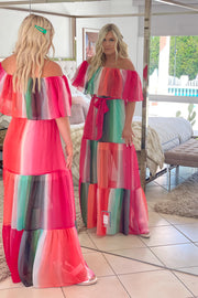 Watercolor Wishes Maxi Dress: Pink - ShopSpoiled