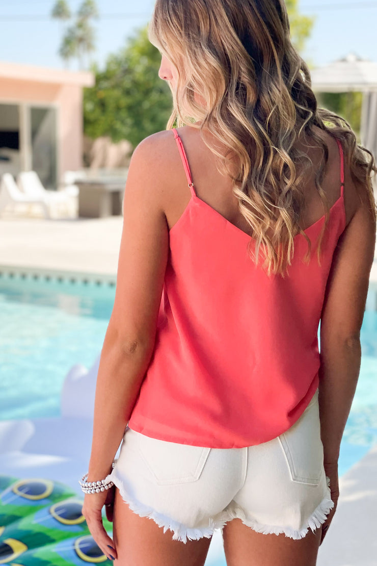 Simple But Effective Top: Coral - ShopSpoiled