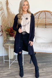 Through The Seasons Cardigan: Black - ShopSpoiled