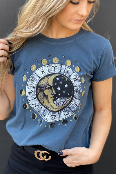 Moon Phases Graphic Tee - Shop Spoiled Boutique