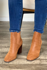Sofia Booties: Camel - ShopSpoiled