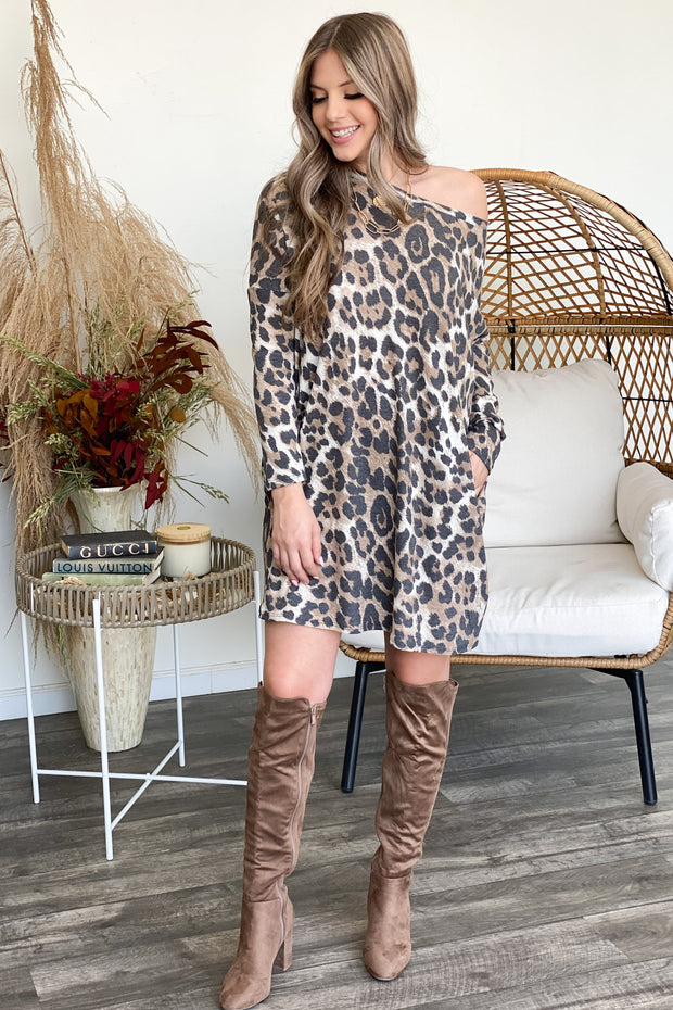 Go Figure Leopard Dress - ShopSpoiled