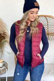 Take A Hike Vest: Wine - ShopSpoiled