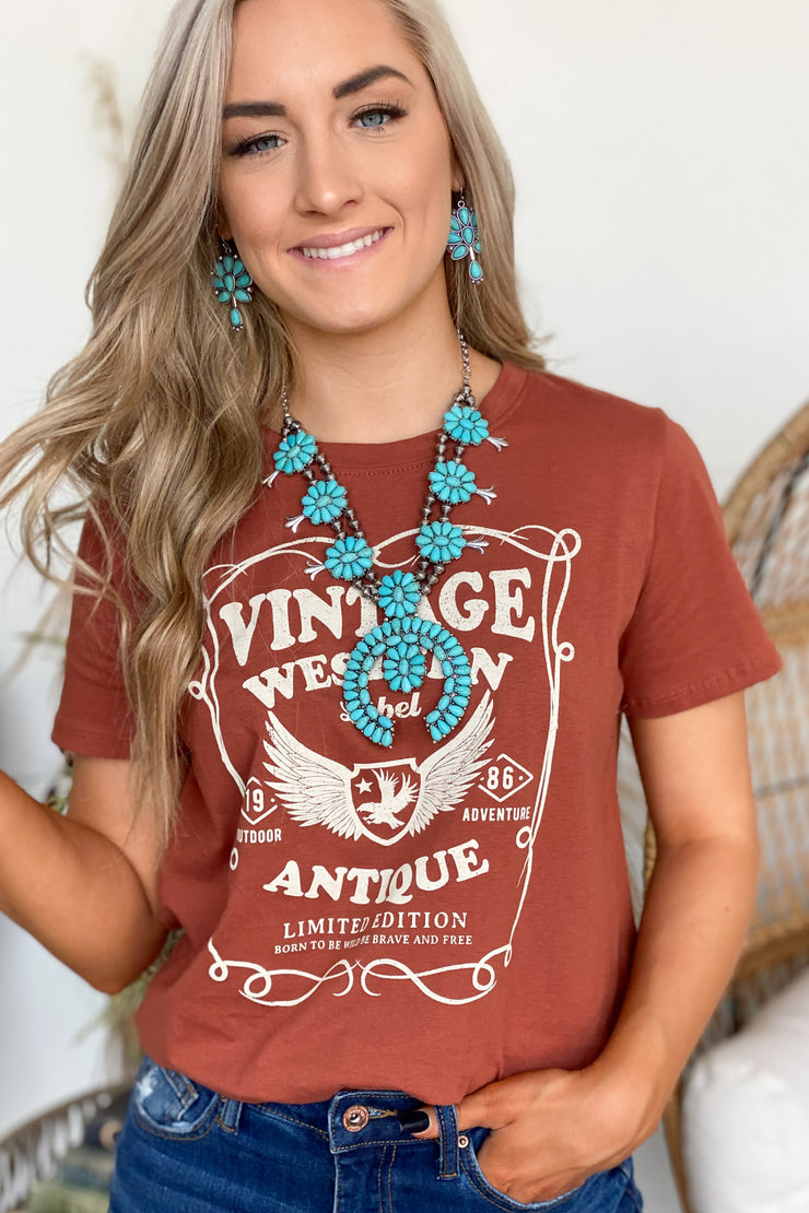 Western Eagle Graphic Tee - ShopSpoiled