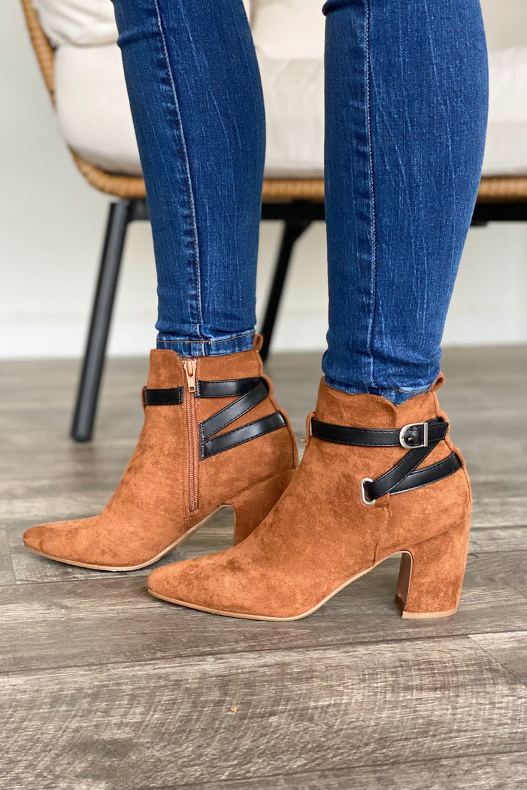 Ariana Bootie: Camel - ShopSpoiled