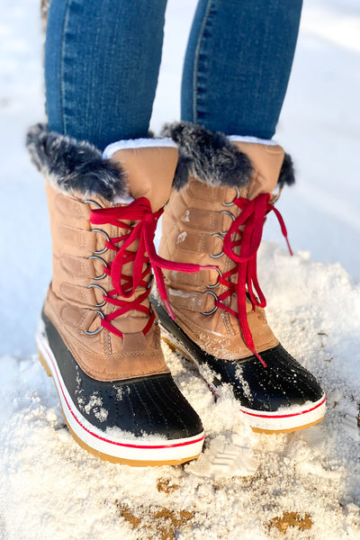 Snowfall Boots: Tan - ShopSpoiled
