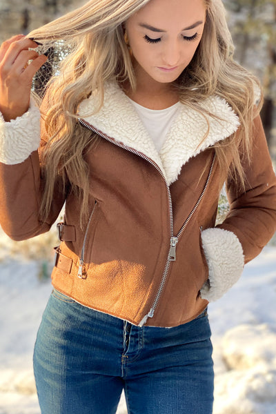 Snow Angel Jacket: Tan - ShopSpoiled