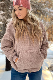 Winter Chill Sherpa Pullover: Tan - ShopSpoiled